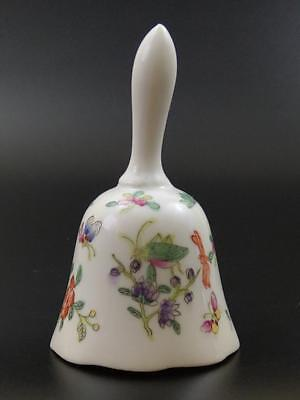 Dinner Bell Chinese Export Famille Rose Fencai porcelain with insect pattern