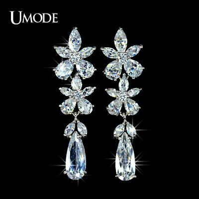 UMODE For Party and Wedding Flower Pure CZ Cubic Zirconia Dangling Earring