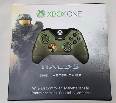 Rare Brand New Halo 5 Guardians Master Chief Limited Edition Xbox One Controller