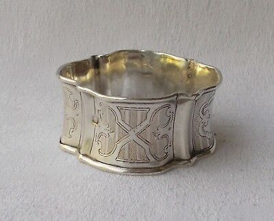 Rare Exceptional Napkin Ring from 950er Sterling Silver France