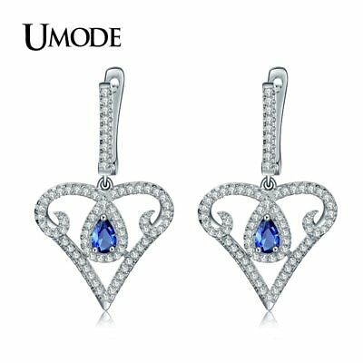 UMODE Vintage Heart Design 925 Sterling Silver 5x3mm 0.25ct CZ Cubic Zirconia