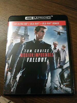 4K + BLU RAY BONUS MISSION IMPOSSIBLE FALLOU vendu sans le blu ray 2d