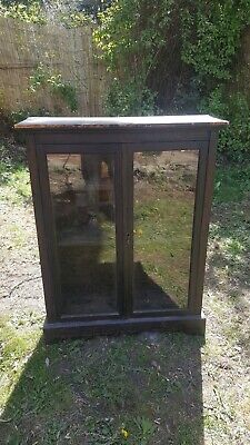 Vintage solid display cabinet / bookcase. Over 50 years old