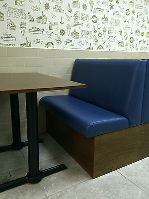 Bench/Booth/Fixed seating *Standard Plain Back Style* Commercial & Domestic