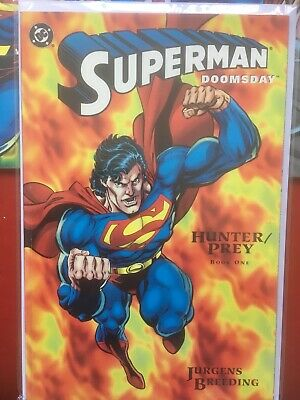 Superman Doomsday: Hunter/Prey. Complete 3 Part Mini Series 1994 DC. VF/NM