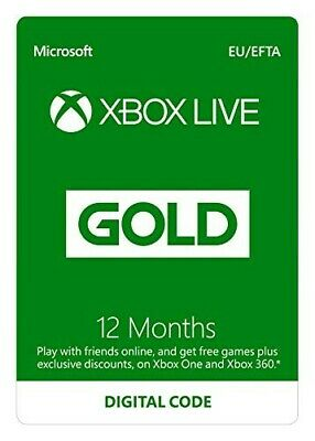 Xbox live 12 month gold membership - Xbox One/360 - Download Code