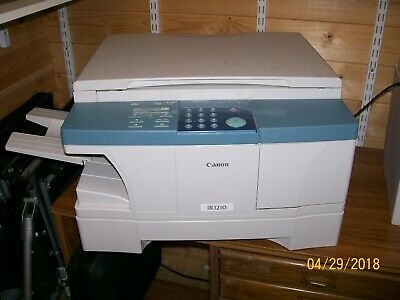 Canon black & white photocopier Model IR1210 in good working condition.