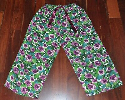 PETER ALEXANDER floral pj pyjama pants Sz XS / 6 8 BUY 5 ITEMS = FREE POST