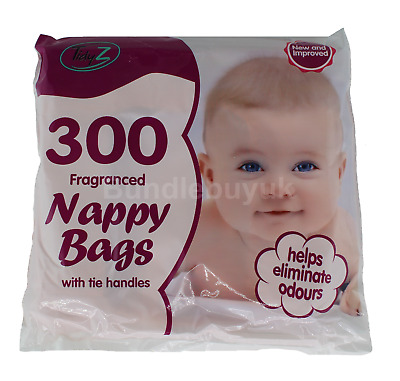 Disposable Nappy Bags Fragranced Diaper Bag Hygienic Nappy Sacks Tie Handles