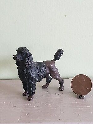 Vintage or Antique Vienna Bronze Poodle Dog Miniature
