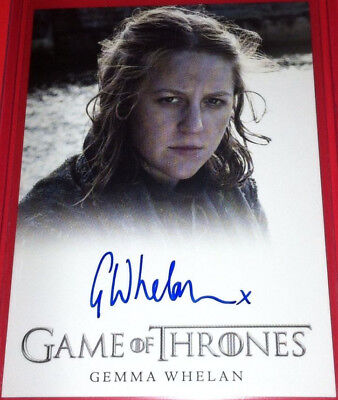 Yara Greyjoy Gemma Whelan Game of Thrones 3 Autograph Trading Card Auto