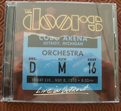 """The Doors """"Live In Detroit 1970"""" Double Cd Cobo Hall Complete Concert May 1970"""