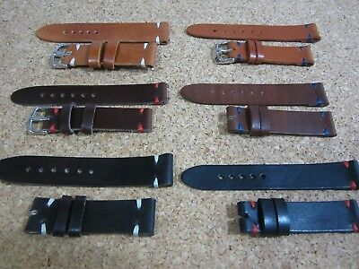 18mm - 20mm - 22mm - 24mm Correa Reloj cuero Pulsera Leather Watch Band Strap