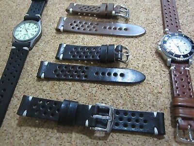 18mm-20mm-22mm-24mm Correa Reloj cuero Pulsera Leather Watch Band Strap