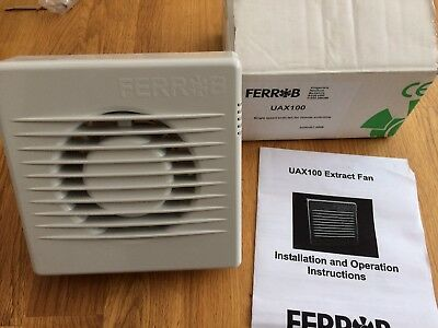 Ferrob UAX100 Single Speed Axial Fan For Remote Switching