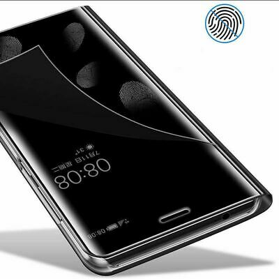 360 Shockproof Smart View Mirror Clear Case Cover Flip For Huawei P Smart (2019)