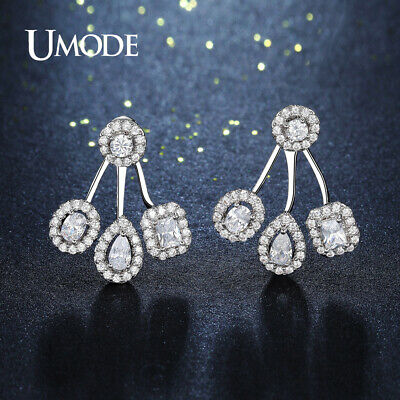 UMODE Brand Round Oval Square Water Drop AAA Austrian Cubic Zirconia Earrings