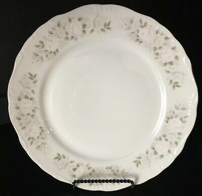 Sheffield Fine Porcelain China Classic 501 Dinner Plate Pink Roses Green Leaves