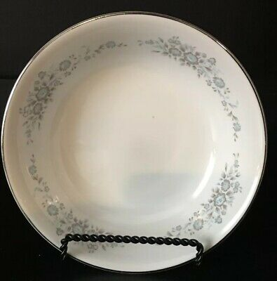 Vintage  Wedding Porcelain Dishes Winsford  1304 Turquoise Gray Bowl  6 1/4""