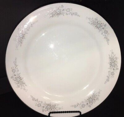 Vintage Wedding  China Turquoise Gray Winsford 1304 Round Platter Chop Plate