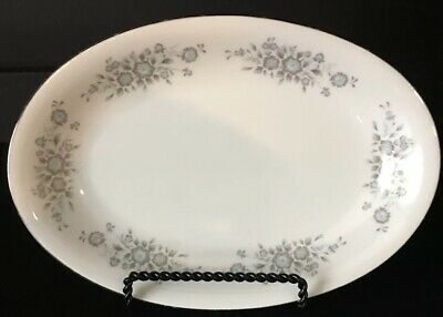 Vintag Fine Porcelain China Turquoise Gray Winsford 1304 Relish Gravy UnderPlate