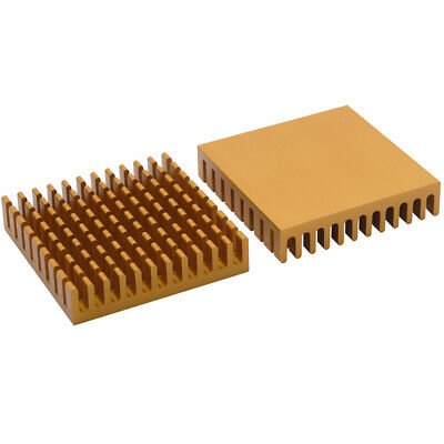 45*45*10mm Gold Anodized Aluminium Heat Sink For Power Transistor/TO-126/TO-220