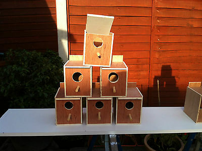 6 finch nest boxes
