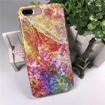 New iPhone 7 Plus Soft Phone Case Cover Colored Marble Pattern 5.5inch IMD Craft