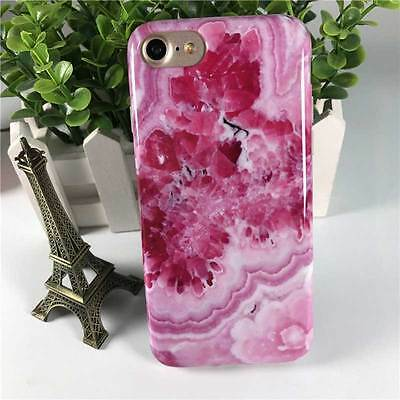 IMD Soft Silicone TPU 4.7inch iPhone 7 Phone Case Cover Rose Marble Pattern