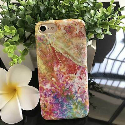 New iPhone 7 Soft Phone Case Cover Colored Marble Pattern 4.7inch IMD Craft