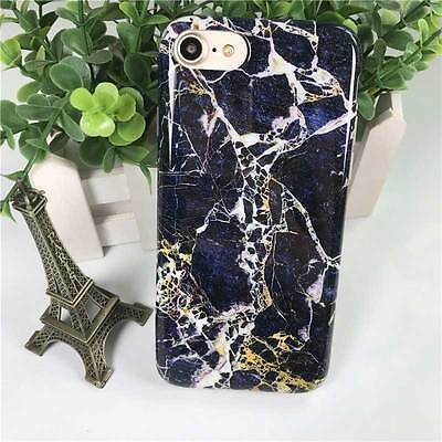 Fashion Blue Gold Marble Pattern Soft Silicone 4.7inch iPhone 7 Phone Case Cover