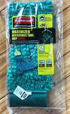 Rubbermaid Commercial Maximizer Microfiber Tube Mop Refill #24 1887081 LOT OF 4