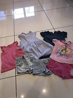 Bundle Of Girls Clothes 18-24 Months Pjs Shorts Dresss Next H&M