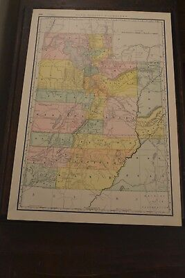 1888 Map Of Utah by Rand McNally Railroads & Indian Reservations