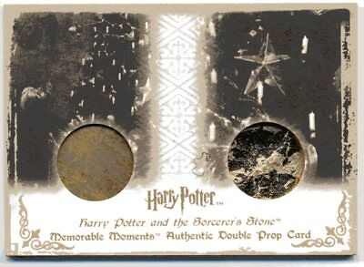 Double Prop Christmas Ornaments Trading Card Harry Potter Philosopher's Stone