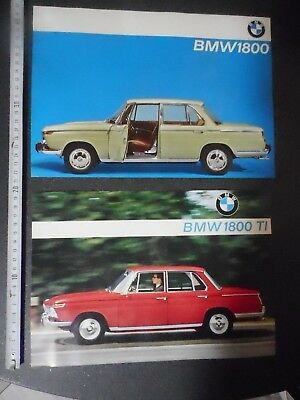 BMW 1800 et BMW 1800 TI   2  catalogues   ( 1 page recto verso  )