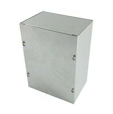 "Sheet Metal Junction Box with Lift-off Screw Cover 6x8x4"" Outdoor Cover Box"