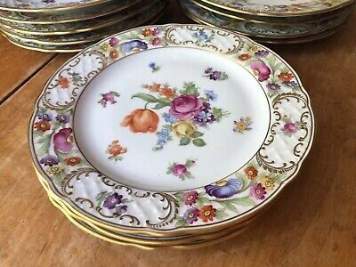 Schuman Dresden Flowers Empress  Set of 12 Salad Plates