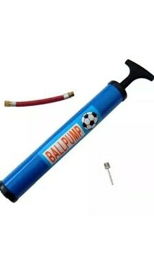"""12"""" Inflating Hand Air Pump With Needle And Flexi Adapter For Bike Football Ball"""