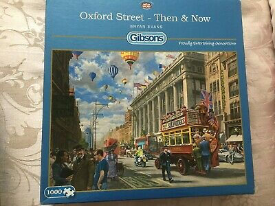 GIBSONS 1000 PIECE Jigsaw Puzzles – 'Oxford Street-Then & Now'