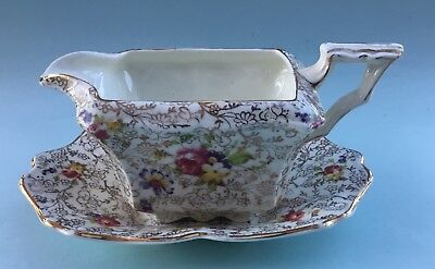 Vintage James Kent, Fenton,  Pearl Delight Cream Jug and Saucer c1950s England