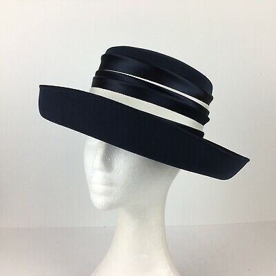 Right Impression Vintage Hat Navy With White/Off White Trim  (40)