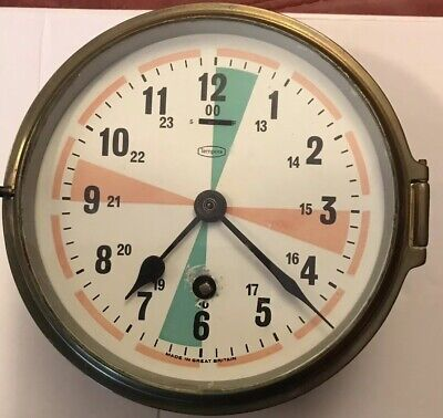 Brass Tempora Radio Sector Clock With Key