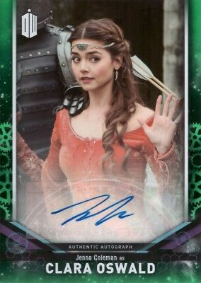 2018 Topps Doctor Who Signature Jenna Coleman as Clara Oswald Autograph Green