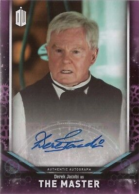 2018 Topps Doctor Who Signature Derek Jacobi as The Master Autograph