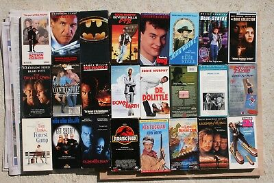 VHS Lot (You pick) choose from 89 VHS Movies (conditon noted in the description)