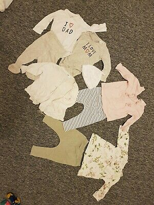 Bundle baby girls clothes 2-9 Months FRUGI, Next, H&M Organic