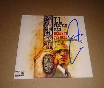 Clifford Harris TIP Autographed Trouble Man Signed CD Booklet Cover Rapper TI