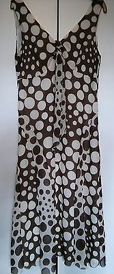 Per Una Pretty Ladies Long Floaty Summer Dress Size 12 Wedding Spots Brown