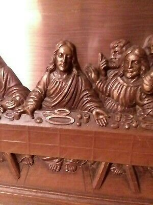 The Last Supper Framed Relief Copper Sculpture Plaque Jesus Artistic
